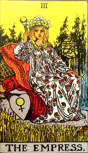 タロットカード『女帝』 by占いとか魔術とか所蔵画像