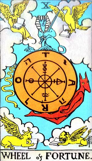 タロットカード『運命の輪』 by占いとか魔術とか所蔵画像