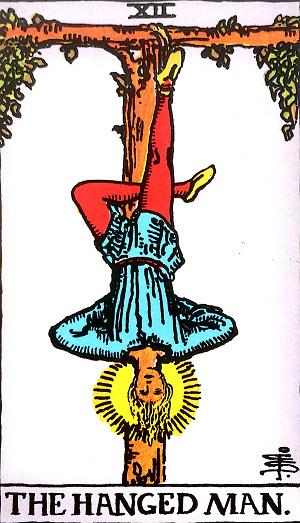タロットカード『吊された男』 by占いとか魔術とか所蔵画像