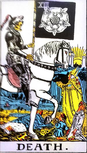 タロットカード『死神』 by占いとか魔術とか所蔵画像