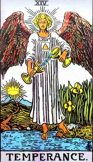 タロットカード『節制』 by占いとか魔術とか所蔵画像