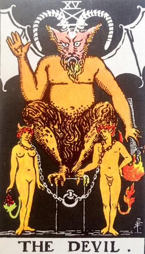 タロットカード『悪魔』 by占いとか魔術とか所蔵画像