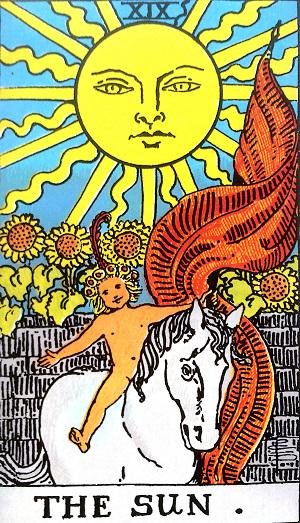 タロットカード『太陽』 by占いとか魔術とか所蔵画像