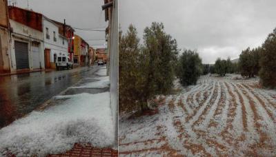 12074761_1729483653941395_スペイン、バレンシア(Las Cuevas de Utiel) 大量の雹