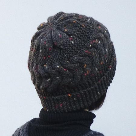 916スターメツィードケーブル帽子とバイカラーマフラー