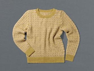 982ピエロソミュールプラスデザインセーター平置き
