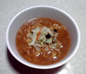 マルちゃん 正麺 カップ 香味まろ味噌(できあがり)