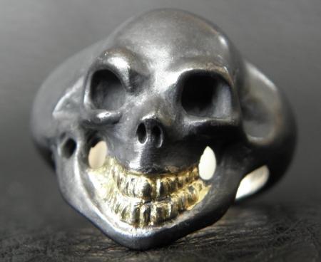 Gaboratory,Gabor,Silver,Gold,Skull,Ring
