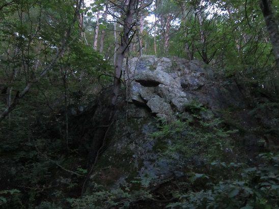 マツタケ山 岩