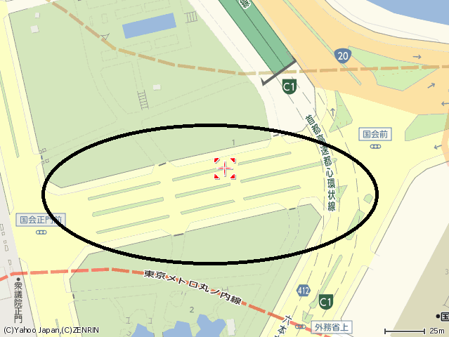 国会議事堂正門前地図