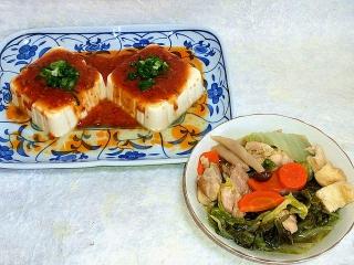 151016_3537捧々鶏風冷奴・白菜と鶏もも肉の煮物VGA