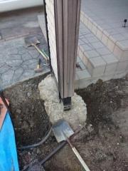 岐阜県多治見市駐車場改修工事機能門柱基礎