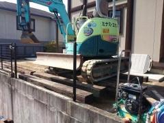 多治見市ガーデンリフォーム工事重機搬出