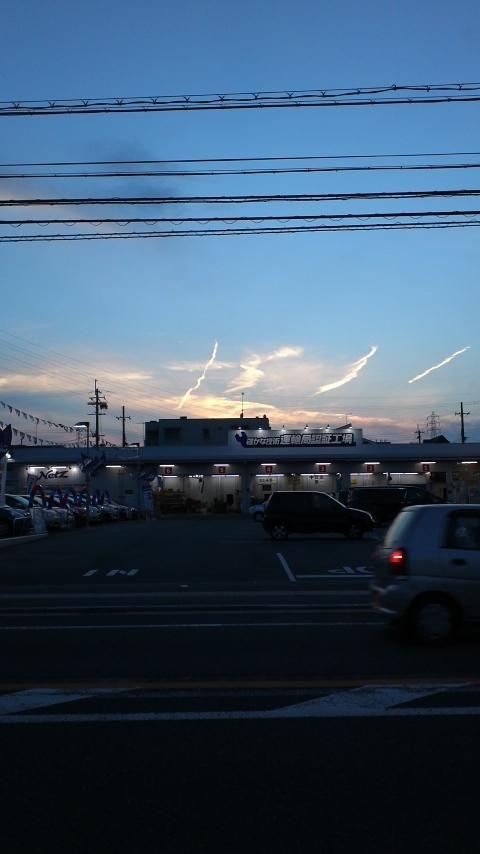 京都で昨日「地震雲」を見た…愛媛でも竜巻型の地震雲出現か