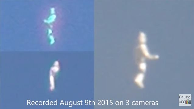 【UFO】ロサンゼルス上空に謎の「白いヒト型」の物体が出現…フライングヒューマノイド