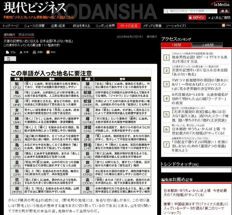 日本全国「危険な地名」…この字が入っていたらヤバイ漢字一覧
