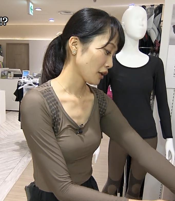 大澤亜季子 ニュース番組でエロくて恥ずかしい衣装を着せられるキャプ画像(エロ・アイコラ画像)