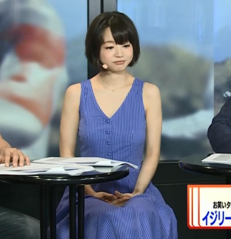 喜屋武ちあき 巨乳ワンピースキャプ画像(エロ・アイコラ画像)