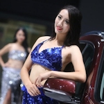 中国・南京モーターショー コンパニオン画像