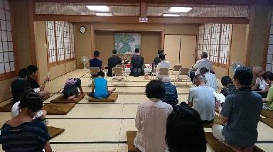 上若松町会館での地蔵さん祭り
