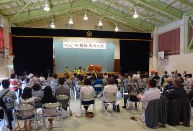 元気な銚子太鼓で集いが始まりました。
