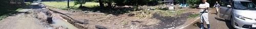 台風18号 災害<現地調査>!鹿沼市富岡地内 行川 富岡橋北の堰周辺⑥