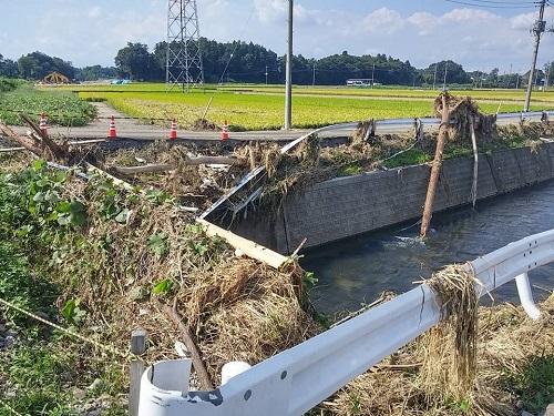 台風18号水害の爪痕…壬生町④