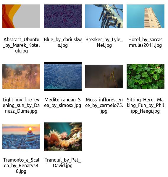 Ubuntu 15.10 壁紙 デフォルト サムネイル一覧