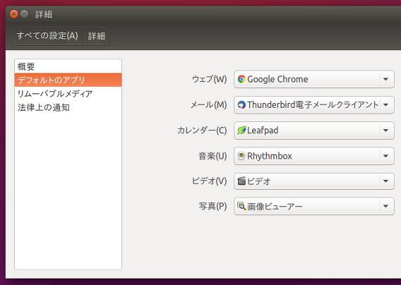 Ubuntu 15.10 Google Chrome デフォルトに設定