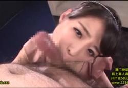 淫乱美少女のねっとりノーハンドフェラチオ大量顔射!さくらゆら